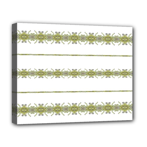 Ethnic Floral Stripes Deluxe Canvas 20  x 16