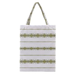Ethnic Floral Stripes Classic Tote Bag