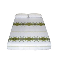 Ethnic Floral Stripes Fitted Sheet (Full/ Double Size)