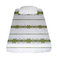 Ethnic Floral Stripes Fitted Sheet (Single Size)