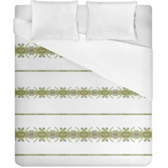 Ethnic Floral Stripes Duvet Cover (California King Size)