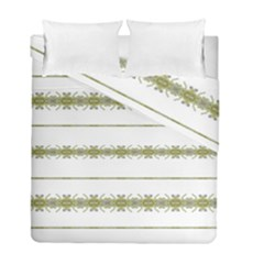 Ethnic Floral Stripes Duvet Cover Double Side (Full/ Double Size)