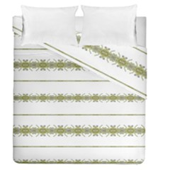 Ethnic Floral Stripes Duvet Cover Double Side (Queen Size)