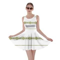 Ethnic Floral Stripes Skater Dress