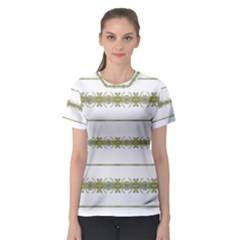 Ethnic Floral Stripes Women s Sport Mesh Tee