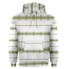 Ethnic Floral Stripes Men s Pullover Hoodie
