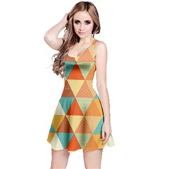 Triangles Pattern  Reversible Sleeveless Dress