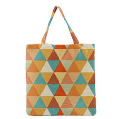 Triangles Pattern  Grocery Tote Bag