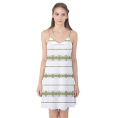 Ethnic Floral Stripes Camis Nightgown