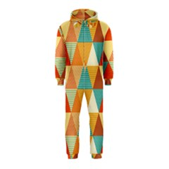 Triangles Pattern  Hooded Jumpsuit (Kids)
