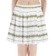 Ethnic Floral Stripes Pleated Mini Skirt