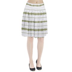 Ethnic Floral Stripes Pleated Skirt
