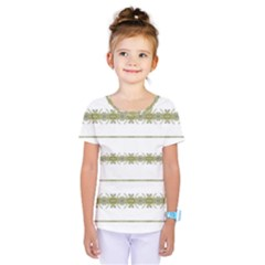 Ethnic Floral Stripes Kids  One Piece Tee