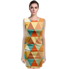 Triangles Pattern  Classic Sleeveless Midi Dress