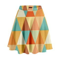 Triangles Pattern  High Waist Skirt