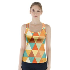 Triangles Pattern  Racer Back Sports Top