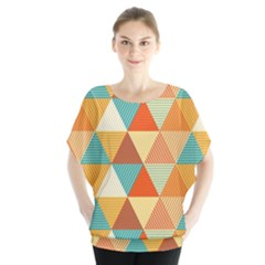 Triangles Pattern  Blouse