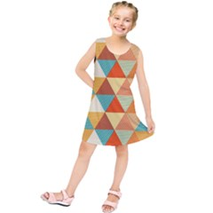 Triangles Pattern  Kids  Tunic Dress