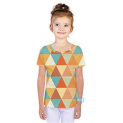 Triangles Pattern  Kids  One Piece Tee