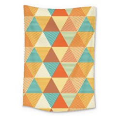 Triangles Pattern  Large Tapestry