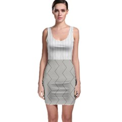 Lines and stripes patterns Sleeveless Bodycon Dress