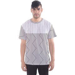 Lines and stripes patterns Men s Sport Mesh Tee