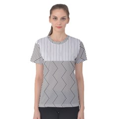 Lines and stripes patterns Women s Cotton Tee