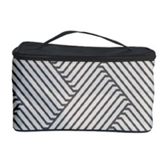 Lines and stripes patterns Cosmetic Storage Case