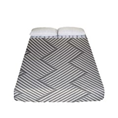 Lines and stripes patterns Fitted Sheet (Full/ Double Size)