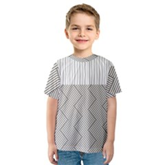 Lines and stripes patterns Kids  Sport Mesh Tee