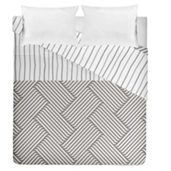Lines and stripes patterns Duvet Cover Double Side (Queen Size)