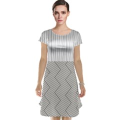 Lines and stripes patterns Cap Sleeve Nightdress