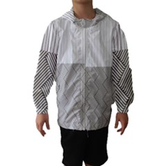 Lines and stripes patterns Hooded Wind Breaker (Kids)