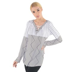 Lines And Stripes Patterns Women s Tie Up Tee