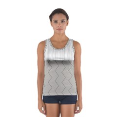 Lines and stripes patterns Women s Sport Tank Top