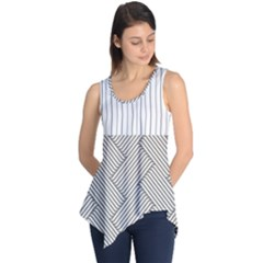 Lines and stripes patterns Sleeveless Tunic