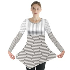 Lines and stripes patterns Long Sleeve Tunic