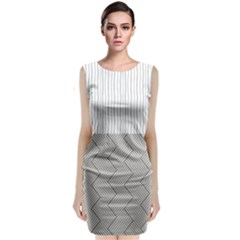 Lines And Stripes Patterns Classic Sleeveless Midi Dress