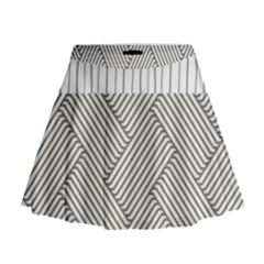 Lines And Stripes Patterns Mini Flare Skirt