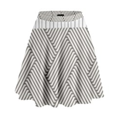 Lines and stripes patterns High Waist Skirt