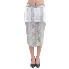 Lines And Stripes Patterns Midi Pencil Skirt