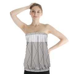 Lines And Stripes Patterns Strapless Top