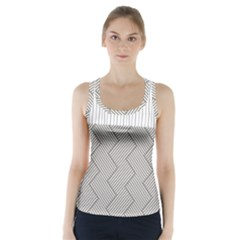 Lines And Stripes Patterns Racer Back Sports Top