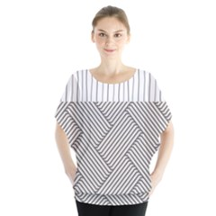 Lines And Stripes Patterns Blouse