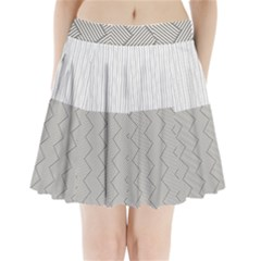 Lines And Stripes Patterns Pleated Mini Skirt