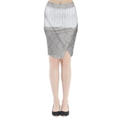 Lines and stripes patterns Midi Wrap Pencil Skirt