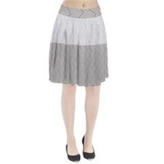 Lines And Stripes Patterns Pleated Skirt