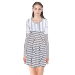 Lines And Stripes Patterns Flare Dress