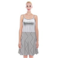 Lines And Stripes Patterns Spaghetti Strap Velvet Dress
