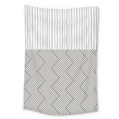 Lines And Stripes Patterns Large Tapestry